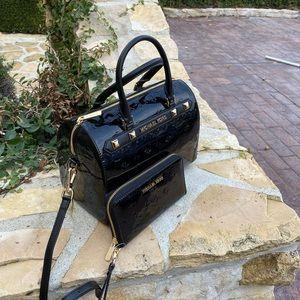 NWT Michael Kors LG Metallic duffle bag&wallet